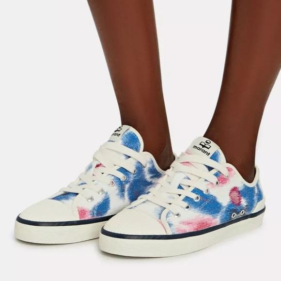 ISABEL MARANT Binkoo Ikat Canvas Sneakers